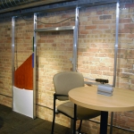 NxtWall's Skeleton wall display demonstrates the flexibility and concept of our movable wall systems