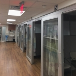 Patient rooms Flex Series walls with sliding doors