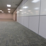 Porcelain whiteboard integrated with insulated solid walls