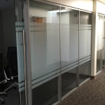 Sliding Frameless Glass Door Glass Conference Room