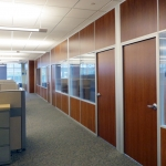 Solid panel interior walls with glass and solid matching doors