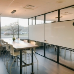 Whiteboard Integrated Modular Divider Walls - Flex Series Black Frame Color
