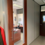 Wood Frame Full Lite Doors - Financial Institution Installation