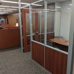 Wood Frame Door with Glass Freestanding Demountable Wall Office