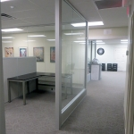 Center mount glass office walls