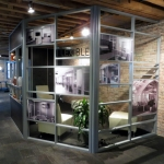 Curved flexible office wall at Chicago NxtWall showroom