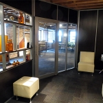 NxtWall Chicago showroom Flex series open shelf wall application
