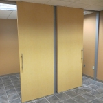 Double solid sliding doors flex series