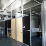 Clerestory Office Fronts with Maple Doors