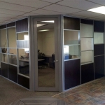 Corner private office using Flex series demountable walls