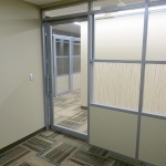 Flex series architectural walls with sliding door