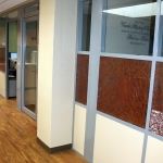 Flex series offices with aluminum frame swing glass doors
