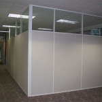 Flex series white aluminum extrusions conference room