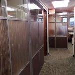 Flex series with 3form custom wall panels - University installation