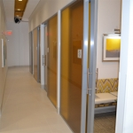 Sliding aluminum framed glass doors