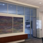 Glass clerestory Flex series demountable wall system