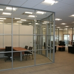 Glass curved wall corporate offices