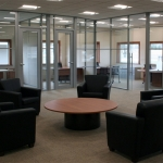 Glass radius office fronts