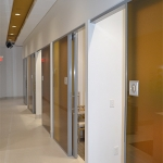 Glass sliding door offices