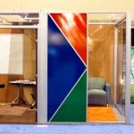 Flex Series Mockup - IFMA - Featuring 3 Form Fizz Collection Wall Inserts