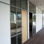 Double Glazed and Solid Paneled Offices with Maple Doors