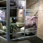 Multi-segmented demountable wall Chicago NxtWall showroom