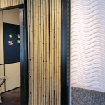 Nxtwall Chicago showroom bamboo wall (Flex series)
