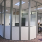 Radius wall glass and solid - Flex Series