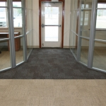 Radiused glass office walls - Flex series