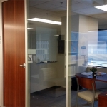 Sapele veneer full height doors Flex wall system