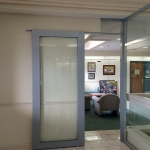 Sliding C-rail aluminum frame glass door