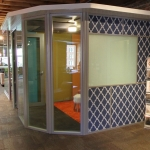 Structural insulated panel (SIP) ceiling on Flex series freestanding office