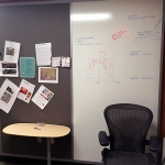 Tackboard and whiteboard wall - Flex series