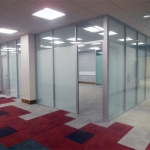 University classroom glass walls installation