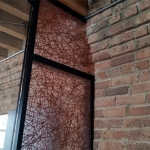 Brick cornice scribe-cut - Flex series wall system