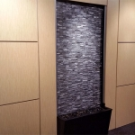 Interior feature wall with built in live waterfall