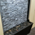 Flex series feature wall with live running waterfall