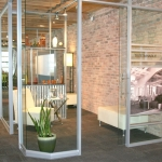 Curved glass wall - NxtWall showroom
