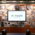 Feature Wall - demountable wall system - NxtWall Chicago showroom