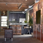 Feature Wall and bar at the Nxtwall Chicago Showroom