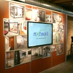 Feature wall with touchscreen tv technology - NxtWall Chicago showroom