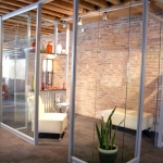 Flex and View series corner glass office integration