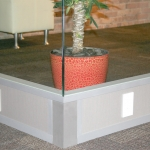 Flex series seamless glass corner office wall with built-in power channel