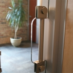 Sliding door stainless flush pull