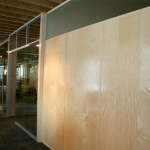 Veneer walls with matching trim NxtWall Chicago showroom