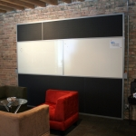 Magnetic back painted glass and magnetic porcelain markerboard comparison