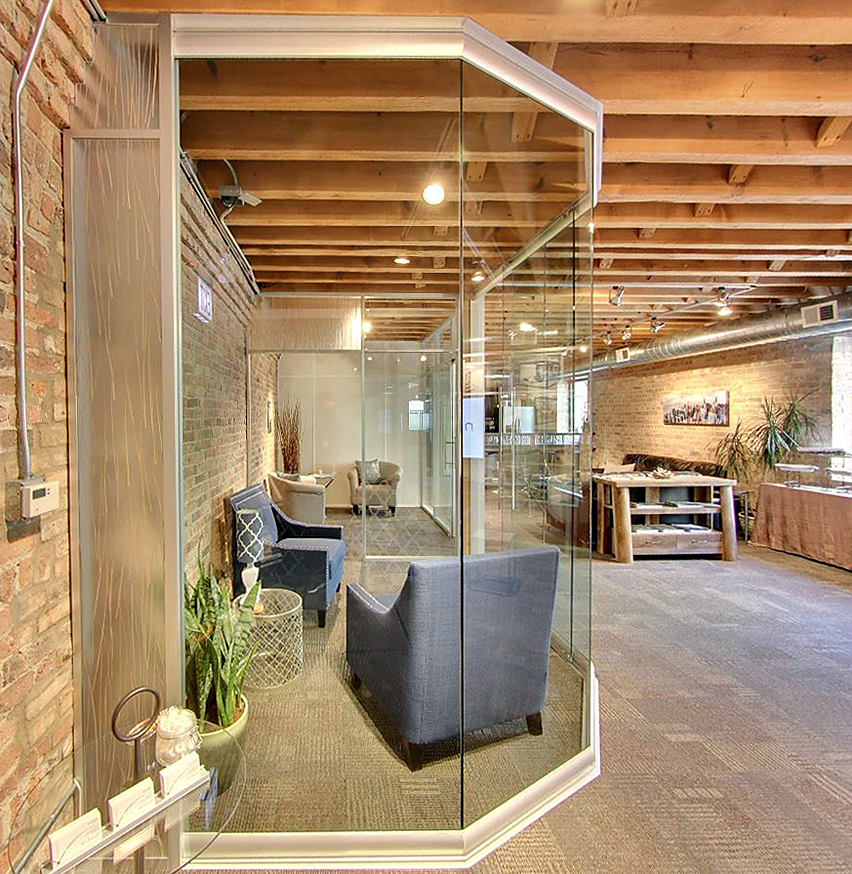 View and Flex series integration at the Nxtwall Chicago showroom