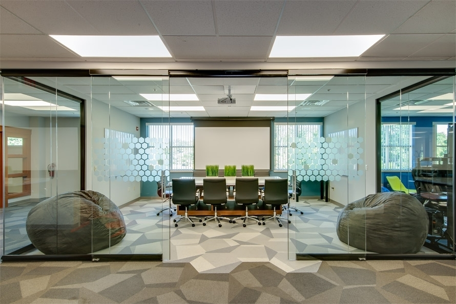 Black Frame Glass Conference Room View Series