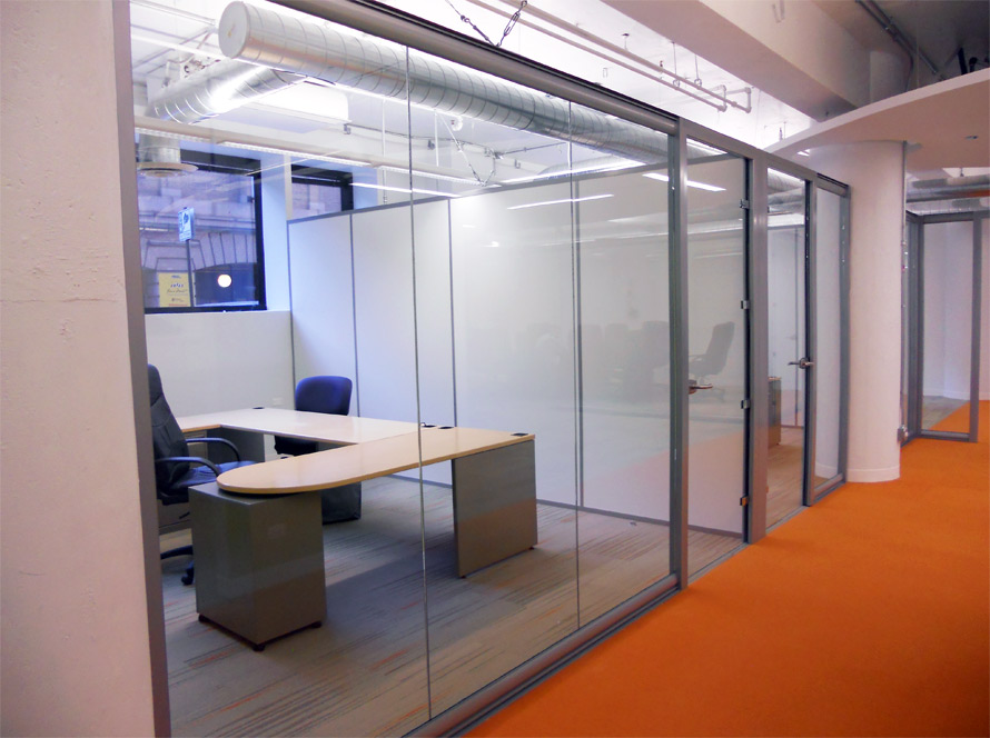 View glass office wall system for Office wall interior