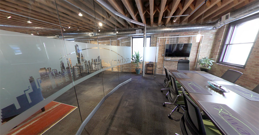 Curved Glass Conference Room Demountable Wall System